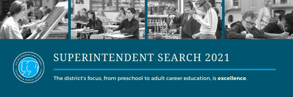 Superintendent Search 2021 Graphic