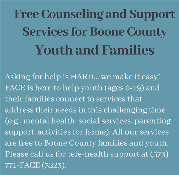 Free Counseling and Support Services through FACE