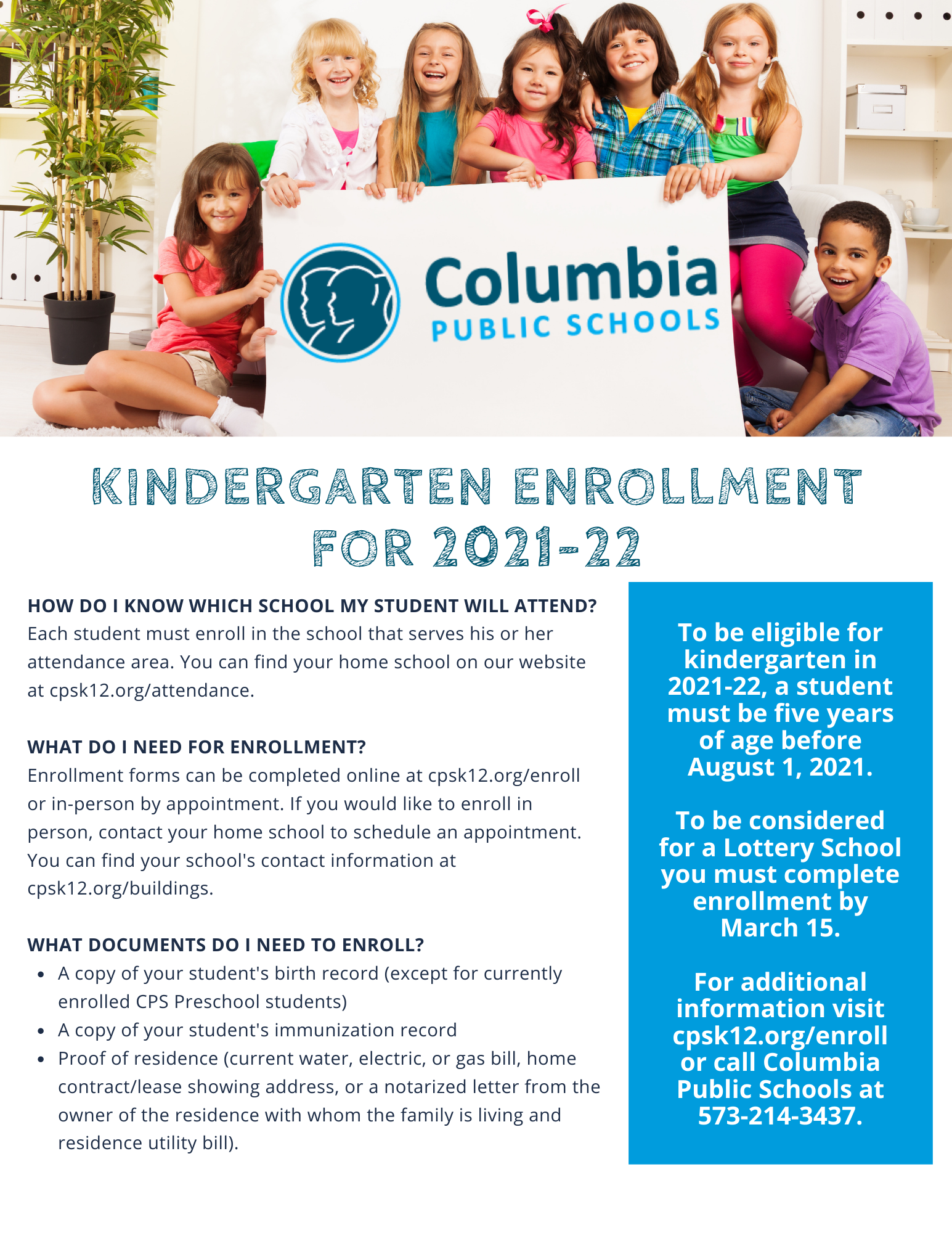 Columbia Public Schools 2021-22 Calendar Wallpaper