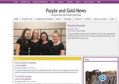 Purple & Gold News Online