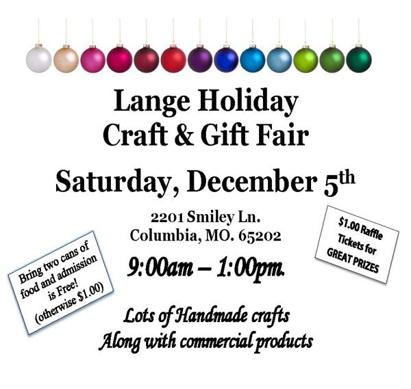 Lange Holiday Craft & Gift Fair - Dec. 5