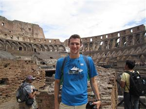 Mr. Gabel at the Colosseum