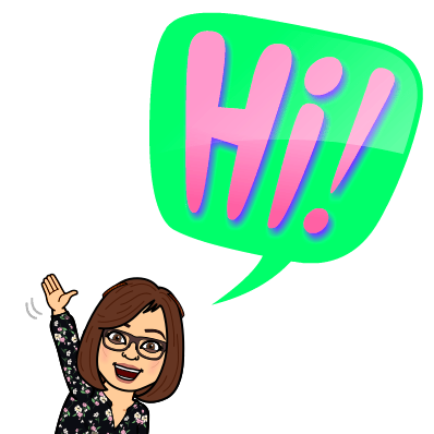 Mrs. Bruns' Bitmoji Saying Hi