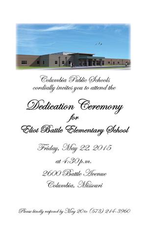 Battle Elementary dedication invitation