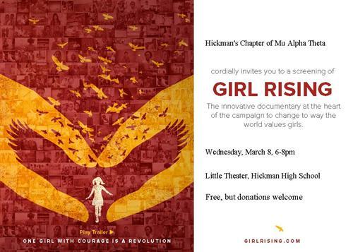 """""""Girl Rising"""" flyer"""