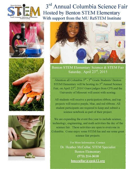 STEM Fair flyer