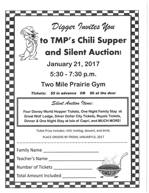 Two Mile Prairie Chili Supper