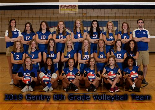 Gentry 8th Grade Volleyball Team