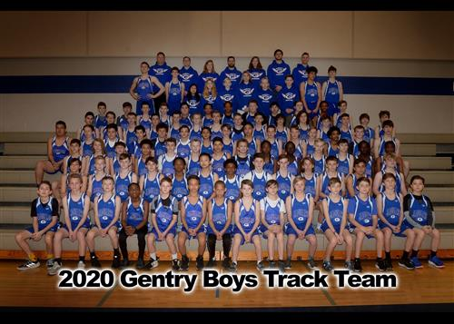 2020 Gentry Boys Track and Field Team