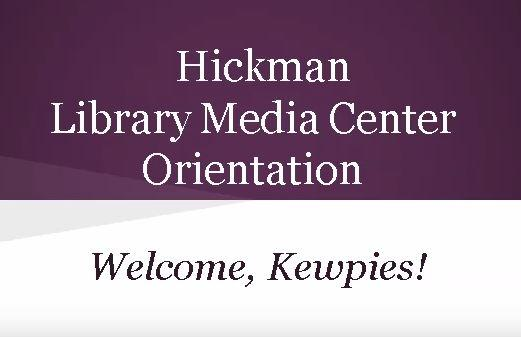 Library Media Center Orientation Video
