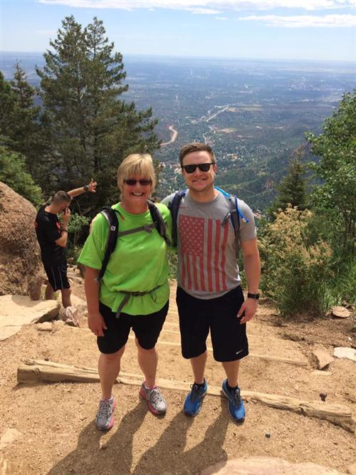 My mom and I atop the Manitou Springs Incline - Summer 2016