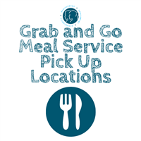 Grab and Go Meal Service Pick Up Location Logo