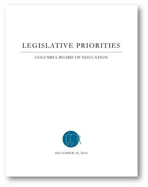 Columbia Board of Education Legislative Priorities