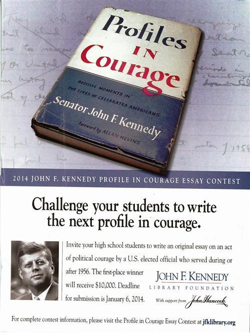 political courage essay contest