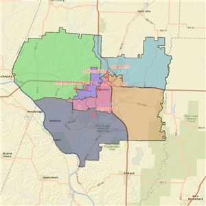 Existing Middle School Attendance Areas