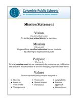 Vision, Mission, Purpose, and Values